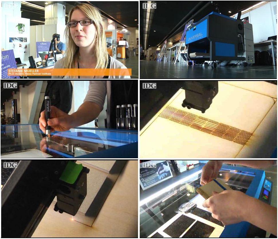 Découpe laser sur la conférence CHI 2013 au Palais des Congrès de Paris