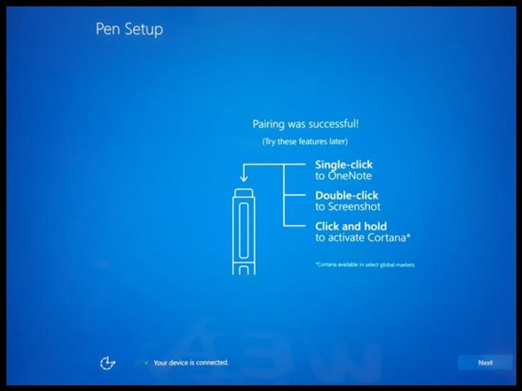 Cortana stylet