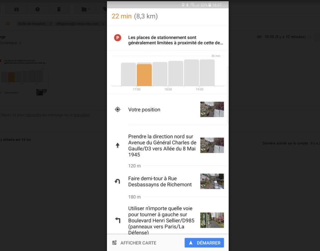 Google va vous aider à chercher une place de parking
