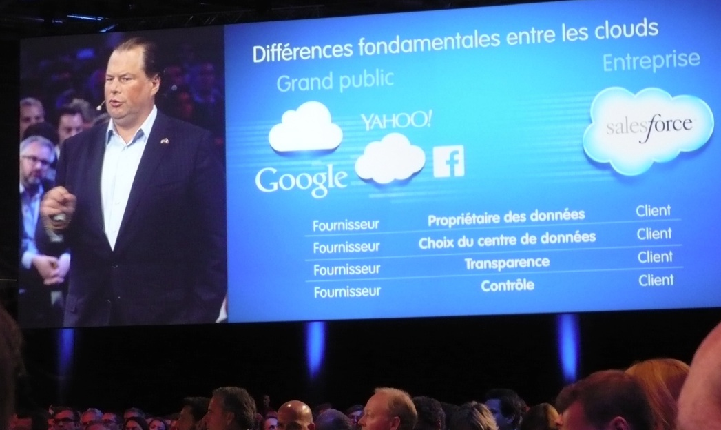 Marc Benioff � Paris