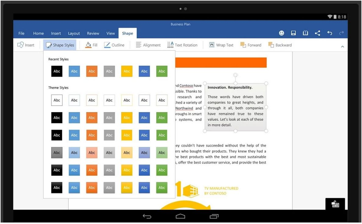 Word pour Android