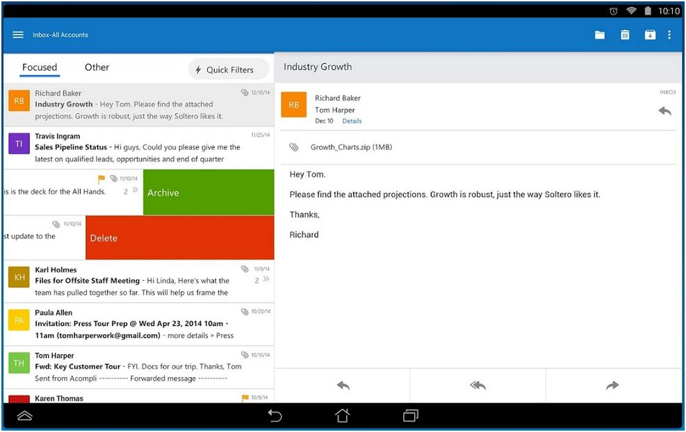 Outlook pour Android