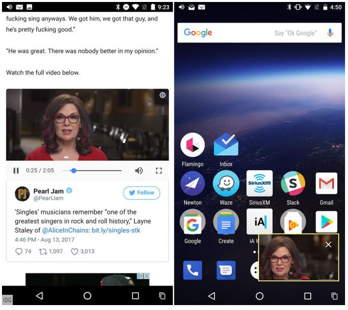 Android 8 oreo les principales fonctions au crible le for Fenetre flottante