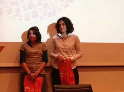 L'équipe du projet WIM (de d à g, Julie Ruel et Caroline Moncomble)