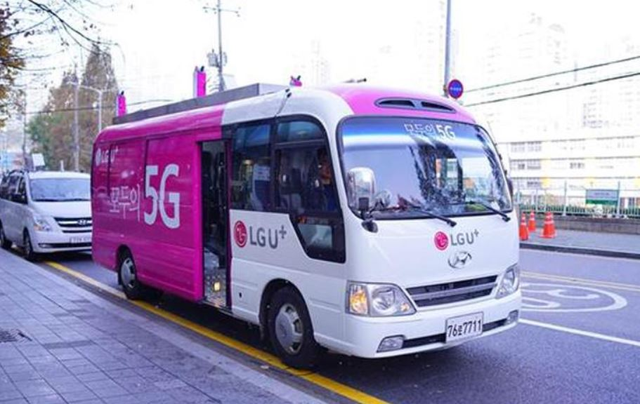 5G par bus et drone