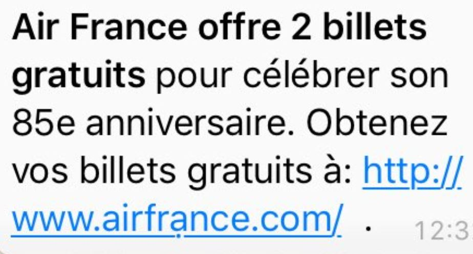 Air France phishing