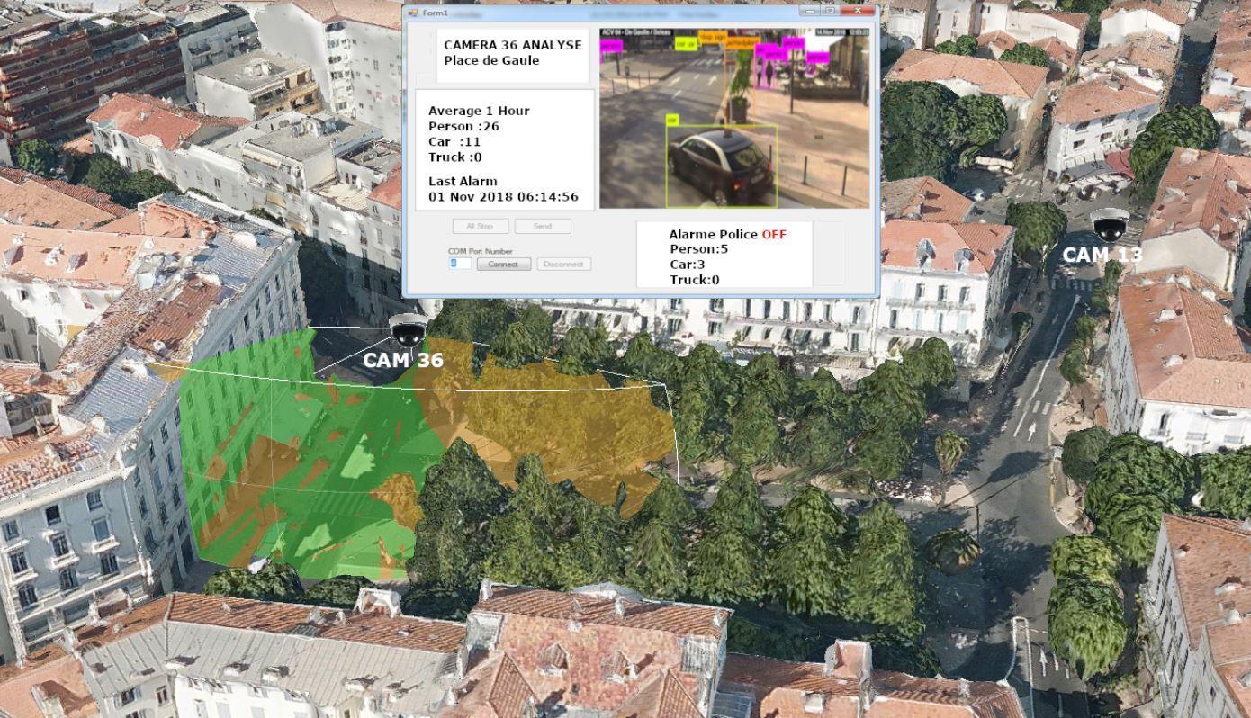 Caméras videosurveillance IA et IoT ville d'Antibes