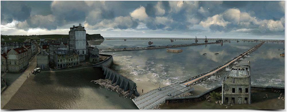 D day le port d 39 arromanches en 3d par dassault syst mes le monde informatique - Port artificiel d arromanches construction ...