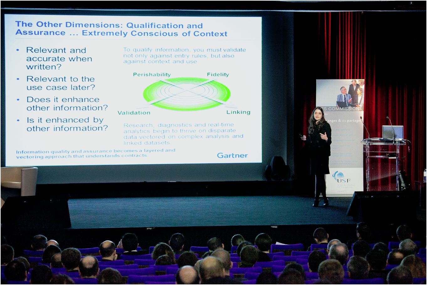 Roxane Edjlali, directeur de recherche chez Gartner, intervenant sur les Big Data
