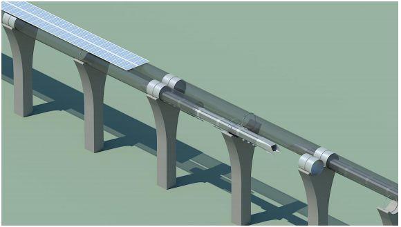 L'Hyperloop, système de transport ultra-rapide imaginé par Elon Musk, de Spacex