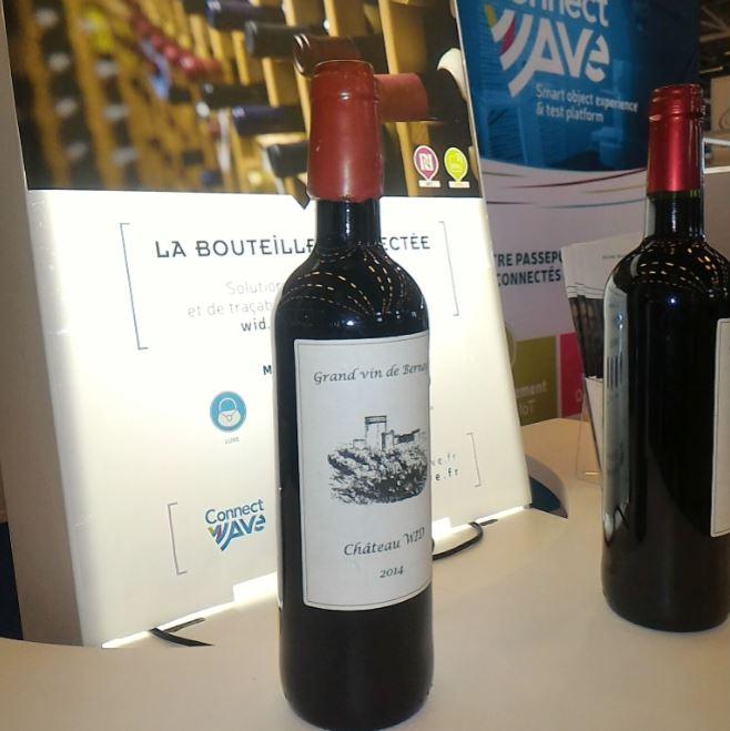 Wid bouteille de vin connectée