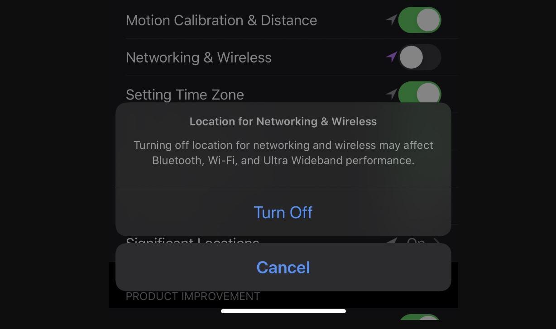 Localisation Bluetooth, WiFi et Ultra Wideband iPhone