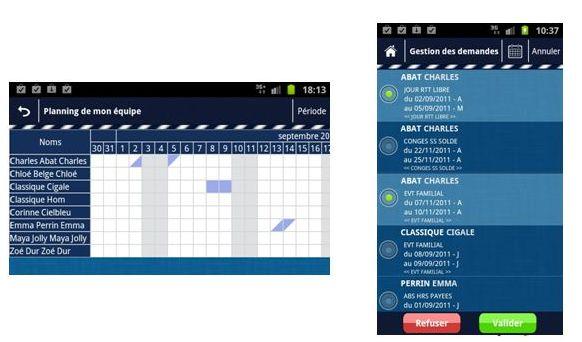 App sous Android développée par Lefebvre Software