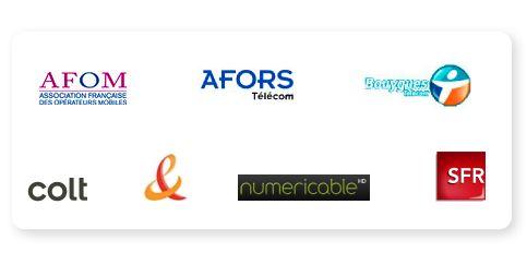 - Les membres de la Fédération française des télécoms (source : site de la FFT)