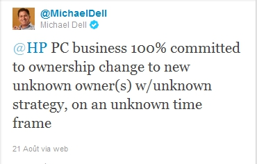Michael Dell ironise sur HP