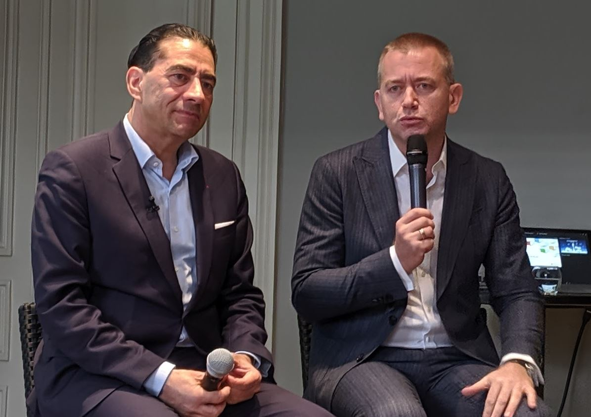 Carlo Purassanta (Microsoft France) et Gérald Karsenti (SAP France)