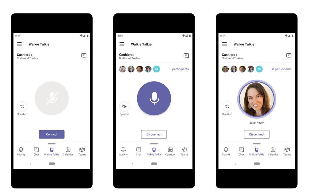 Microsoft Teams fonction talkie-walkie