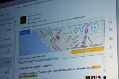 Intégration de Bing dans Outlook