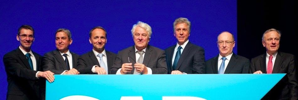 L'équipe dirigeante de SAP et Jim Hagemann Snabe, ex co-CEO.