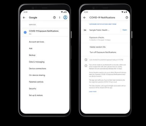 Paramétrage application Covid pour Android