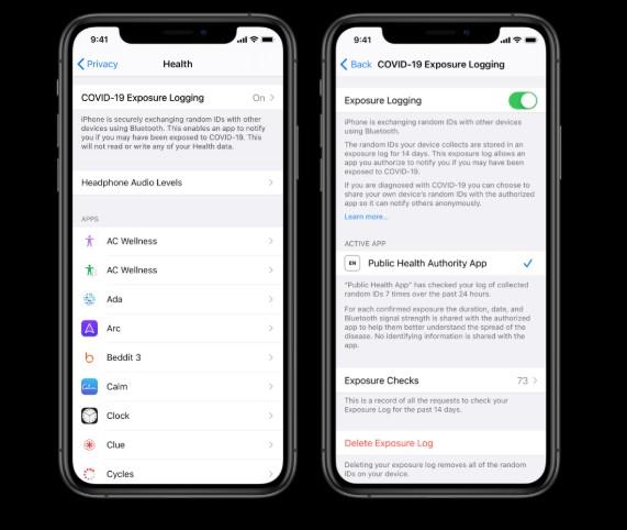 Paramétrage application Covid pour iOS