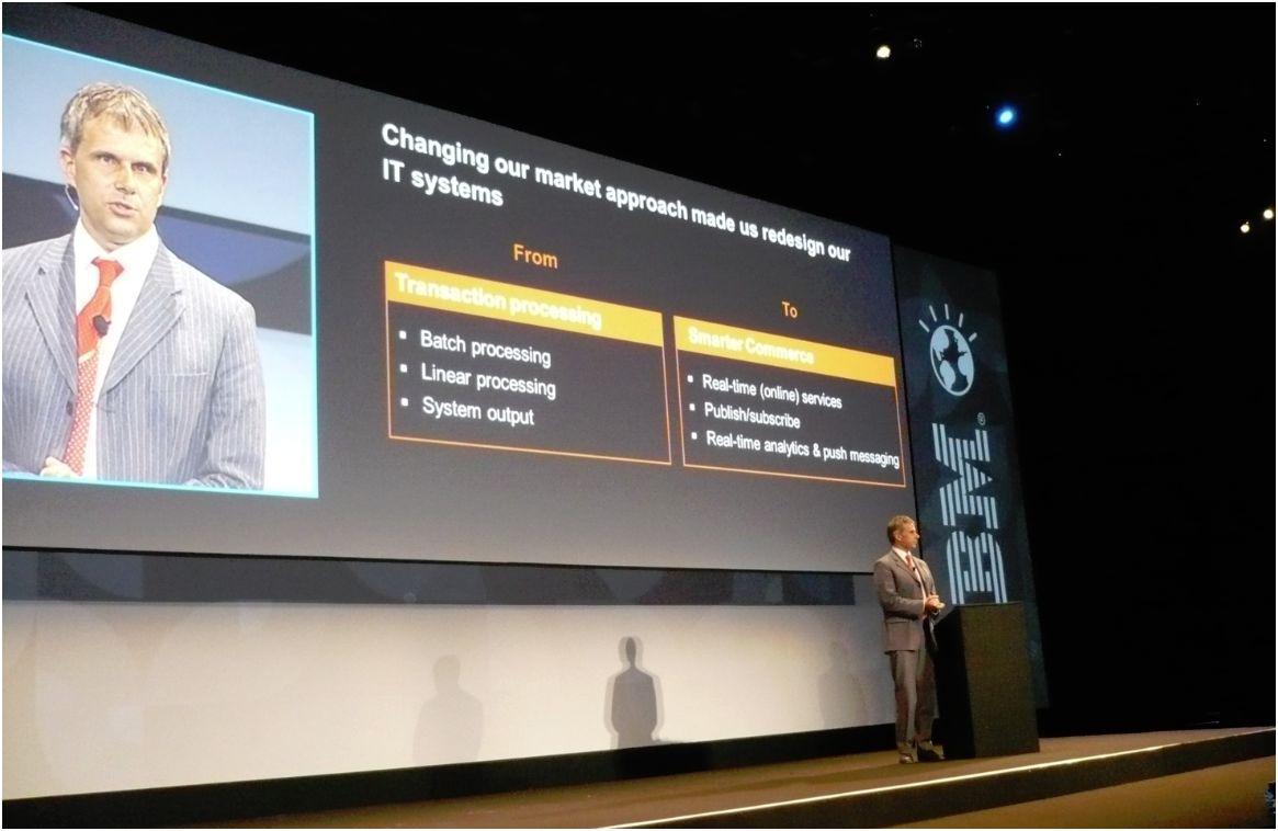 Ron van Kemenade, DSI d'ING sur SmarterCommerce Global Summit d'IBM à Madrid,