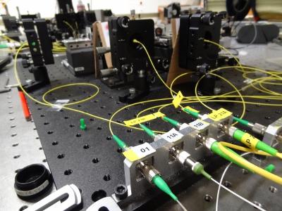 Test de spatialisation de la lumière dans la fibre optique