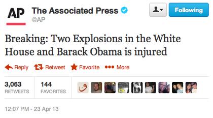 Le tweet piraté d'AP